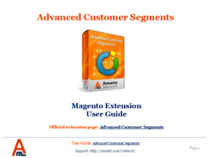 Advanced Customer Segments Magento Extension by Amasty | User Guide