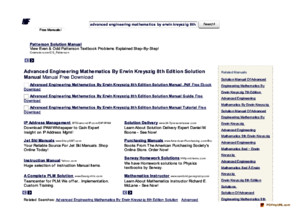 the-manualscom-advanced-engineering-mathematics-by-erwin-kreyszig-8th-edition-solution-manual-manual