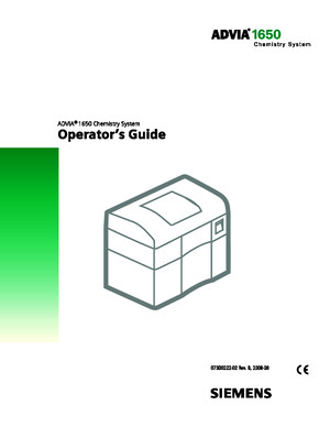 Advia 1650 OPerating Manual