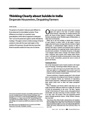 Thinking Clearly About Suicide in India 0