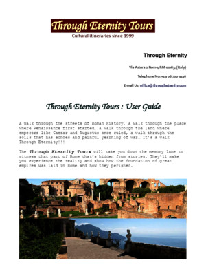 Through Eternity Tours: Rome Travel Guide PDF