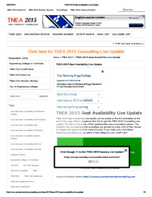 TNEA 2015 Seat Availability Live Updatepdf