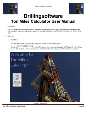 Ton Miles Calculator User Manual