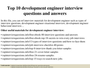 Top 5 deployment engineer interview questions with answers