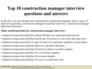 Top 7 contract manager interview questions answers