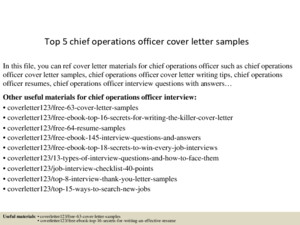 Top 8 chief operations officer resume samples
