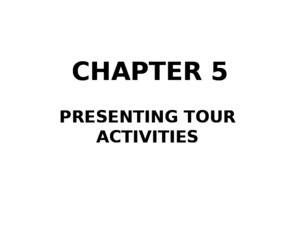tour guiding-Chapter 5(htt257)