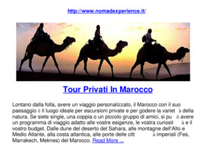 Tour Privati in Marocco