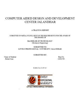 Training Report on Catia