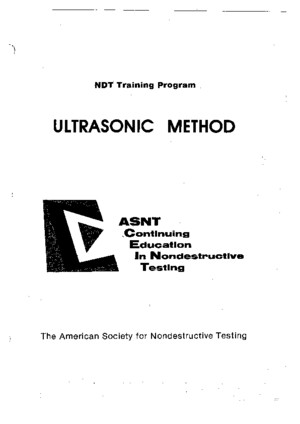 Training Ultrasonic Methode Ndt