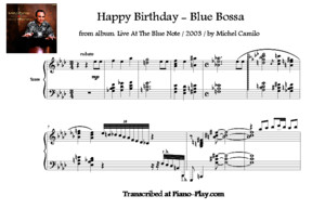 Transcription - Happy Birthday - Blue Bossa by Michel Camilo