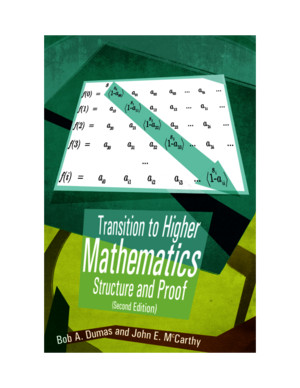 Transition to Higher Mathematics- Structure and Proof (Second Edi