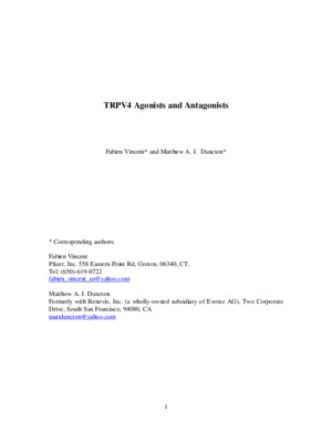 TRPV4 agonists and antagonists