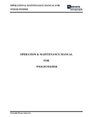 TUC-6 Weigh Feeder o m Manual