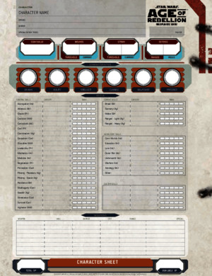 Age of Rebellion - Character Sheet 2