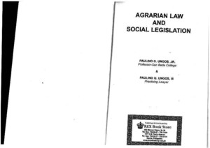 Agrarian and Social Legislation by Ungos