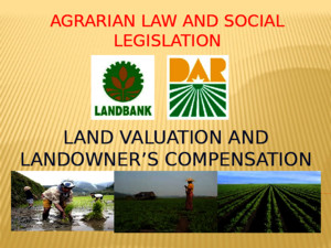 Agrarian Law and Social Legislation