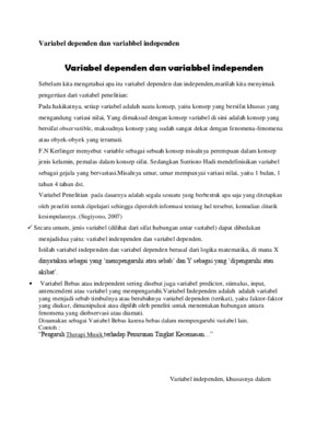 Variabel dependen dan variabbel independendocx
