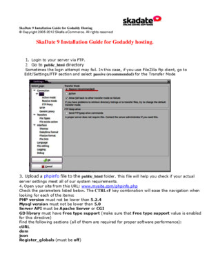 Version 9 Manuals Installation Update Upgrade SkaDate 9 Installation Guide for Godaddy Hosting