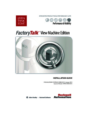 Viewme-In003_-En-e (FactoryTalk View Machine Edition - Installation Guide, 2013-01)