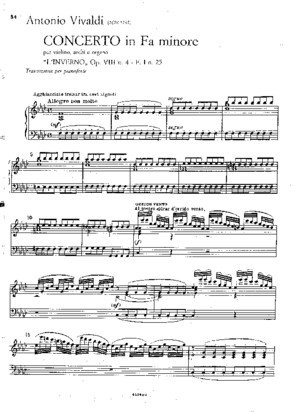 Vivaldi Winter Piano Sheet