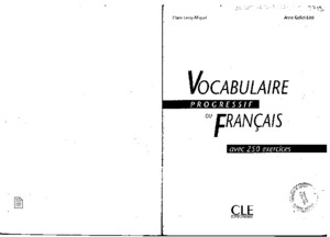 Vocabulaire Progressive Du Francais Intermediaire PDF