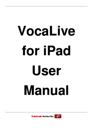 VocaLive iPad 20 User Manual
