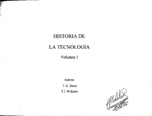 Vol 1 - Historia de La Tecnologia - Derry Williams