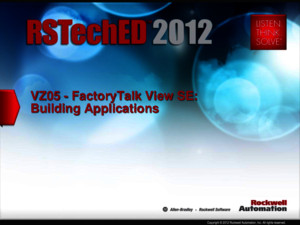 VZ05 FactoryTalk View SE Building Applications Presentacion