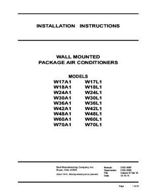 Wall Mounted Package Air Conditioner