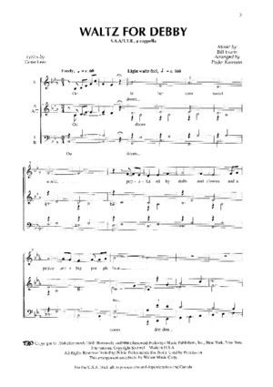 Waltz for Debby SATBB Real Group PDF