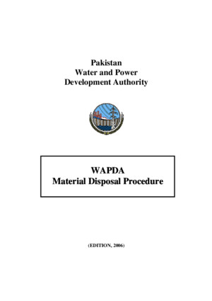 WAPDA Material Disposal Procedure (MEPCO)pdf