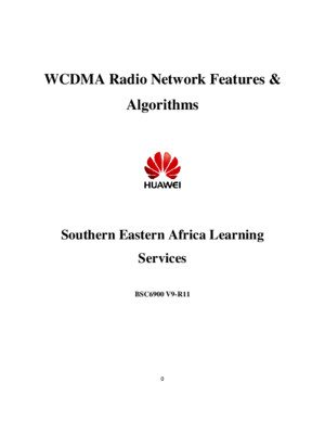 WCDMA BSC6900 R11 Features and Algorithms