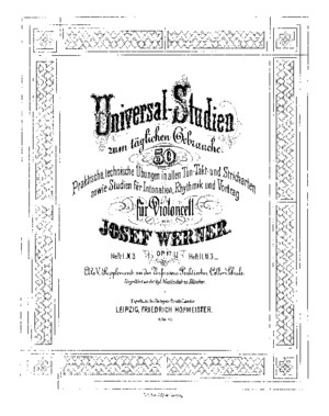 Werner Universal Studies for Cello Op17 Book 1