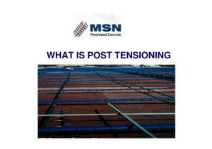 What is Post Tension