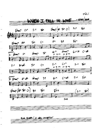 When I fall in love- Lead Sheet - Sheet Music