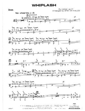 Whiplash Drums Score