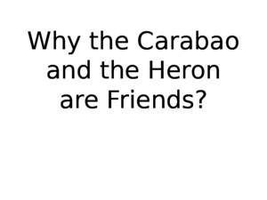 Why the Carabao and the Heron Are Friends
