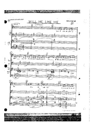 Will He Like Me - She Loves Me - Sheet Music